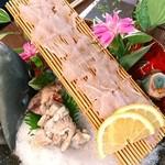 花あかり - ウマヅラハギ薄造り