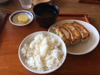 あおぞら銭函3丁め - 3粒定食ご飯少な目 660円