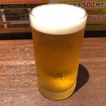 いきなりステーキ - グラスビール 270円。