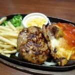 エムズ テーブル - まろやかハンバーグ&チーズチキン(1280円)