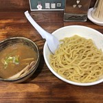 麺工房 武 - 特製豚骨魚介つけ麺(麺大盛)