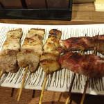 神鶏 - 豚バラ、ぼんぼち、ピーマンの肉巻き。