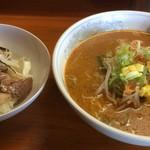 らーめんランド - 料理写真:チャーシュー丼 味噌ラーメン 定食 850円