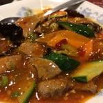中華料理 銀河楼 - 豚レバーの四川風辛子香り炒め