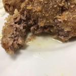 島田屋 - メンチカツ定食 メンチから肉汁じゅわー