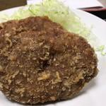 島田屋 - メンチカツ定食 メンチアップ