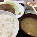 島田屋 - メンチカツ定食