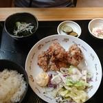 畔 - 鶏のから揚げ定食