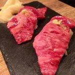 六本木焼肉 Kintan - 【肉刺し】 ・黒毛和牛サーロインの握り