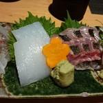 くろ酒場 薩摩 - お造り「産直天然魚盛り」