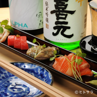 四季折々の食材を使った燻製と日本酒とのマリアージュを堪能