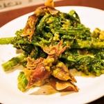 ビアベリー - ホタルイカと菜の花のジェノベーゼ和え