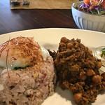 86382858 - ヒヨコ豆のひき肉の和風キーマカレー