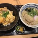 浪花そば - 親子丼セット(680円)