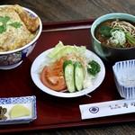 寿司辰 - 料理写真:カツ丼セット(そばころ)