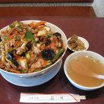 中国料理 蘭州 - 回鍋肉丼 特盛り(2000円)