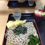 梅もと - ざる蕎麦 380円 + いか天 110円