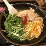 Champuruya - 鶏ねぎそば(ご飯、漬物、小鉢付き)850円