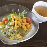 肥前屋ランドール - レディースセット(サラダ&スープ)
