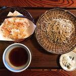 蕎麦処 多賀 - 桜海老天せいろ