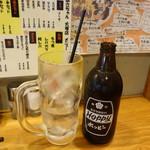 やきとん あさちゃん - ホッピーセット(スーツ割で270円、ナカは108円)