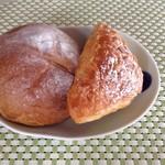 カメヤ ベーカリー - 黒糖&デニュシュ生地のアンパン