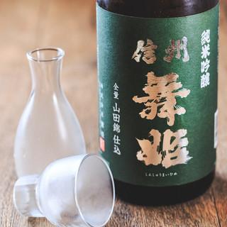 お蕎麦やお食事を引き立てるお酒(日本酒、焼酎etc.)