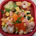 海の宝 丼丸 - バラ丼 540円