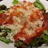 CoCo壱番屋 - 料理写真:期間限定5月末までの蒸し鶏とバジルオニオンのサラダ288円