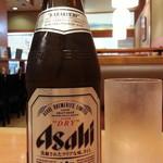 杵屋 - ほろ酔いセット934円 のスーパードライ中瓶通常482円