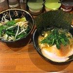 86414954 - 「ラーメン」680円の麺少なめ+麺少なめサービス「野菜畑」
