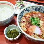 驛釜きしめん - ミニ麺定食(朝定食)