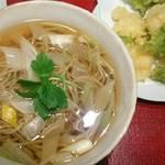 勢揃坂 蕎 ぎん清 - 青さのりと小海老の天ぷら蕎麦