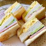 コーヒーハウス マキ - タマゴとハムのホットサンドイッチ