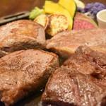 GOD TENDER - ステーキ4種食べ比べプレート