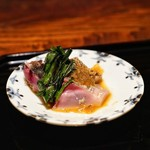 京 上賀茂 御料理秋山 - ☆鰹、鯖の藁焼き
