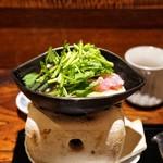 京 上賀茂 御料理秋山 - ☆☆冠地鶏のすき焼き