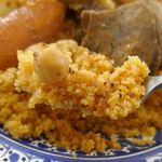 ブラッスリージェルバ - クスクスはハリのある茹で加減で、ピリ辛かつ旨味もしっかりと感じられてウマイ!