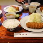 蓬莱屋 - ヒレカツ定食(2,980円)