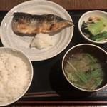 和食 まつむら - さば塩焼き定食 ¥750