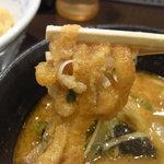 さっぽろ 純連 - 味噌つけ麺には油あげが!!!