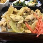 ひまわり食堂 - 鶏たまねぎ重