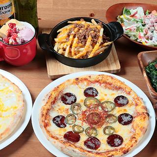 ☆ピザだけで30種以上☆生地と焼きをしっかり押さえた本格派!