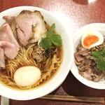 86443521 - 味玉中華そば+炙りチャーシュー丼