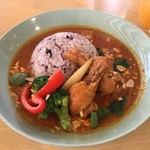 Kanda Food Market - マッサマンカレー900円+大盛100円