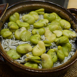 銀座風月堂 - 空豆と釜揚げしらすの炊き込みご飯