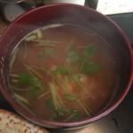 とん皇 - 豆腐の味噌汁