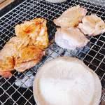 炭焼地鶏 山蔵 - シイタケも参戦