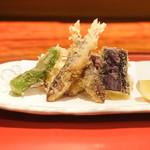 井がわ - 料理写真:稚鮎、なす、ししとうの天ぷら