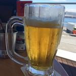 千葉ビール園 - プハァ~!って写真撮る前に飲んじゃった(笑)